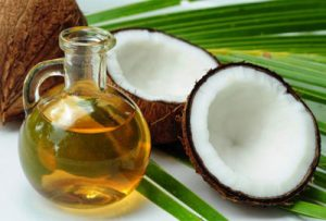 Exfoliate regularly with a few drops of coconut oil.